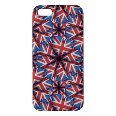 Heart Shaped England Flag Pattern Design Iphone 5s Premium Hardshell Case by dflcprints