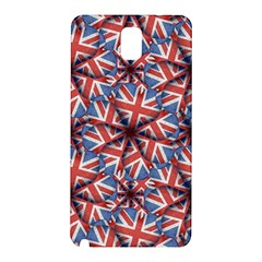 Heart Shaped England Flag Pattern Design Samsung Galaxy Note 3 N9005 Hardshell Back Case by dflcprints