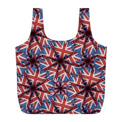 Heart Shaped England Flag Pattern Design Reusable Bag (l) by dflcprints