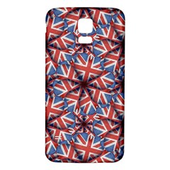 Heart Shaped England Flag Pattern Design Samsung Galaxy S5 Back Case (white) by dflcprints