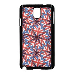 Heart Shaped England Flag Pattern Design Samsung Galaxy Note 3 Neo Hardshell Case (black)