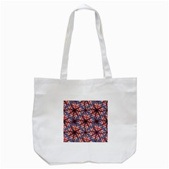 Heart Shaped England Flag Pattern Design Tote Bag (white) by dflcprints