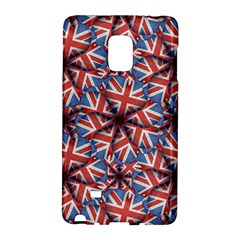 Heart Shaped England Flag Pattern Design Samsung Galaxy Note Edge Hardshell Case by dflcprints