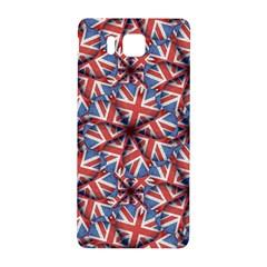 Heart Shaped England Flag Pattern Design Samsung Galaxy Alpha Hardshell Back Case by dflcprints