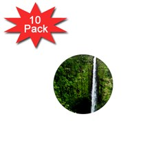 Akaka Falls 1  Mini Button Magnet (10 Pack) by bloomingvinedesign