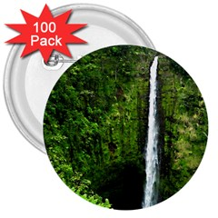 Akaka Falls 3  Button (100 Pack) by bloomingvinedesign