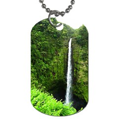 Akaka Falls Dog Tag (one Sided) by bloomingvinedesign