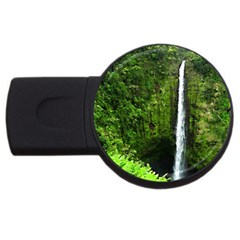 Akaka Falls 2gb Usb Flash Drive (round) by bloomingvinedesign