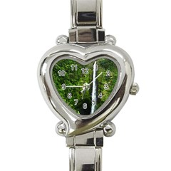 Akaka Falls Heart Italian Charm Watch  by bloomingvinedesign