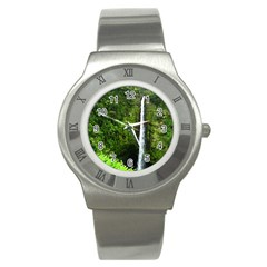 Akaka Falls Stainless Steel Watch (slim) by bloomingvinedesign