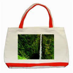 Akaka Falls Classic Tote Bag (red) by bloomingvinedesign