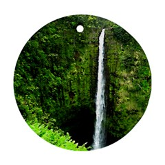 Akaka Falls Round Ornament (two Sides) by bloomingvinedesign