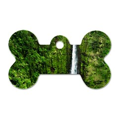 Akaka Falls Dog Tag Bone (one Sided) by bloomingvinedesign