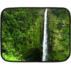 Akaka Falls Mini Fleece Blanket (two Sided) by bloomingvinedesign