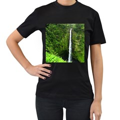Akaka Falls Women s T Shirt (black) by bloomingvinedesign
