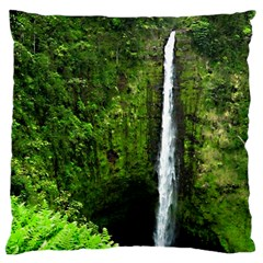 Akaka Falls Large Cushion Case (two Sided)  by bloomingvinedesign