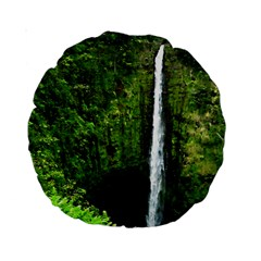 Akaka Falls 15  Premium Round Cushion  by bloomingvinedesign