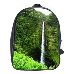 Akaka Falls School Bag (xl) by bloomingvinedesign