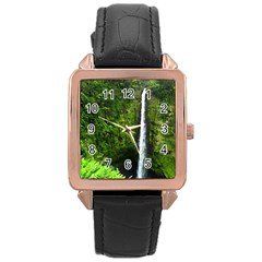 Akaka Falls Rose Gold Leather Watch  by bloomingvinedesign