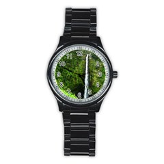 Akaka Falls Sport Metal Watch (black) by bloomingvinedesign