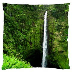 Akaka Falls Large Flano Cushion Case (two Sides) by bloomingvinedesign