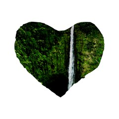 Akaka Falls 16  Premium Flano Heart Shape Cushion