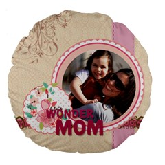 Mothers Day By Mom   Large 18  Premium Flano Round Cushion    Qp8j0myrxozl   Www Artscow Com Back