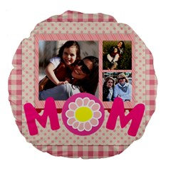 Mothers Day By Mom   Large 18  Premium Flano Round Cushion    C3m05qotxjz8   Www Artscow Com Front
