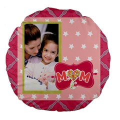 Mothers Day By Mom   Large 18  Premium Flano Round Cushion    L5emfcqe8meb   Www Artscow Com Back