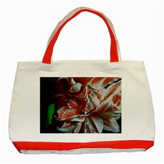 Amaryllis Double Bloom Classic Tote Bag (red) by bloomingvinedesign