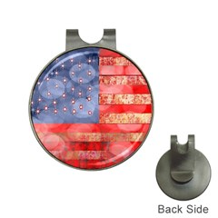 Distressed American Flag Hat Clip With Golf Ball Marker by bloomingvinedesign
