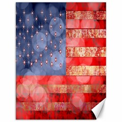 Distressed American Flag Canvas 12  x 16  (Unframed) by bloomingvinedesign