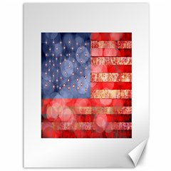 Distressed American Flag Canvas 36  X 48  (unframed) by bloomingvinedesign