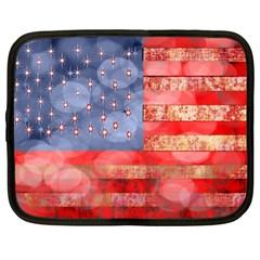 Distressed American Flag Netbook Sleeve (xl)