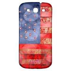 Distressed American Flag Samsung Galaxy S3 S Iii Classic Hardshell Back Case by bloomingvinedesign