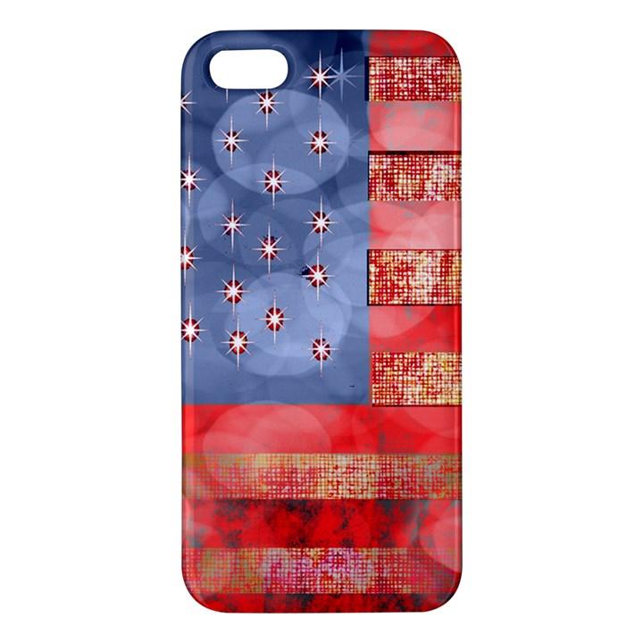 Distressed American Flag Apple iPhone 5 Premium Hardshell Case
