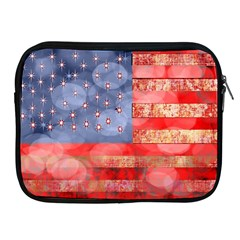 Distressed American Flag Apple Ipad Zippered Sleeve by bloomingvinedesign