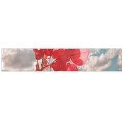 Flowers In The Sky Flano Scarf (large) by dflcprintsclothing