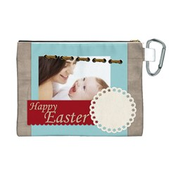 Easter By Joely   Canvas Cosmetic Bag (xl)   Bkzbzda87fny   Www Artscow Com Back
