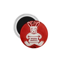 Cute Bunny Happy Easter Drawing Illustration Design 1 75  Button Magnet by dflcprints
