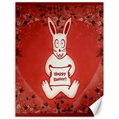 Cute Bunny Happy Easter Drawing Illustration Design Canvas 12  X 16  (unframed) by dflcprints