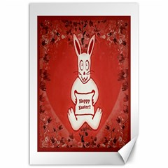 Cute Bunny Happy Easter Drawing Illustration Design Canvas 24  X 36  (unframed) by dflcprints