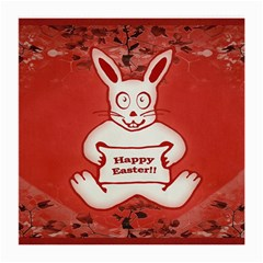 Cute Bunny Happy Easter Drawing Illustration Design Glasses Cloth (medium, Two Sided) by dflcprints