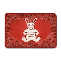 Cute Bunny Happy Easter Drawing Illustration Design Small Door Mat by dflcprints