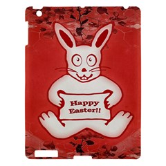 Cute Bunny Happy Easter Drawing Illustration Design Apple Ipad 3/4 Hardshell Case by dflcprints