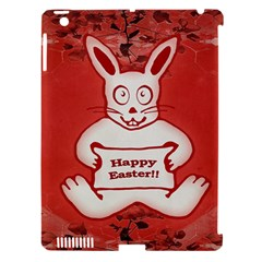 Cute Bunny Happy Easter Drawing Illustration Design Apple Ipad 3/4 Hardshell Case (compatible With Smart Cover) by dflcprints