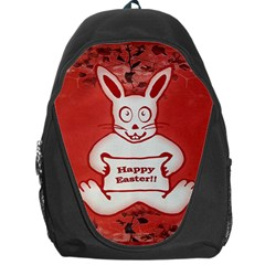 Cute Bunny Happy Easter Drawing Illustration Design Backpack Bag by dflcprints