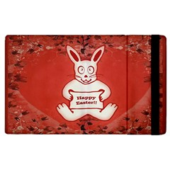 Cute Bunny Happy Easter Drawing Illustration Design Apple Ipad 2 Flip Case by dflcprints