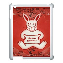 Cute Bunny Happy Easter Drawing Illustration Design Apple Ipad 3/4 Case (white) by dflcprints