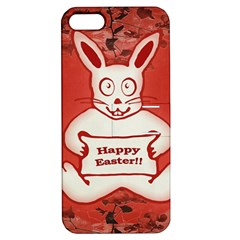 Cute Bunny Happy Easter Drawing Illustration Design Apple Iphone 5 Hardshell Case With Stand by dflcprints